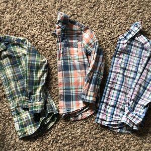 3 long sleeve plaid shirts